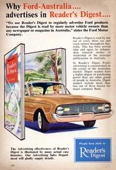 1962 Ford Australia Advertises In Readers Digest XK Ford Falcon Aussie Original Magazine Advertisement (Darren Marlow) Tags: 1 2 6 9 19 62 x k xk f ford falcon s sedan c car cool collectible collectors classic a automobile v vehicle aussie australian australia 60s