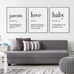 Inspirational Black White Family Father Mother Baby Love Friend Quotes A4 Posters Nordic Style Wall Art Pictures Home Decor Canvas Paintings by TheMildArt (Mild Art) Tags: art poster print painting canvas frame design original mild home decoration wall etsy shop for themildart