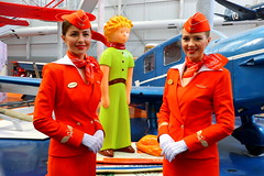 The Little Prince and the Russian dolls... (Manuel Negrerie) Tags: aeroflot uniform russia thelittleprince portrait stewardess crew aircrew beauty canon airlines photography aviation red
