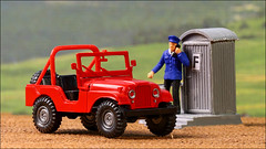 Ein Jeep in H0 (hans der insulaner) Tags: jeep auto car modell h0 187 roco