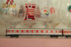 FLM 8183 -  Een sterk verhaal (niet beneveld door bier) (MoltoAlto) Tags: fleischmann piccolo 8183 n gauge spur modell eisenbahn 1975 fantasie avümz227 neue wagen eurofima lhb prototype pop