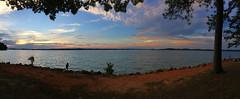 Sunset 6-25-19 (davidwilliamreed) Tags: sunset lakelanier vanpughpark hallcountyga iphone pano panorama bluehour dusk twilight lake water trees nature