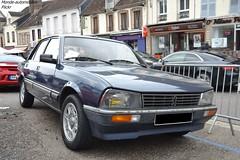 Peugeot 505 (Monde-Auto Passion Photos) Tags: voiture vehicule auto automobile peugeot 505 berline bleu blue rare rareté rassemblement france courtenay