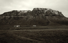 Bær (lawatt) Tags: bær mountain snow 120 film 50mm iceland farm hasselblad pasture 400 portra westfjords árneshreppur finnbogastaðafjall desat