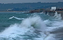 Incoming Tide St Ouens Bay from Le Port Car Park  6 (Sybalan,) Tags: jersey channelislands may holiday sunny summer landscape sea shoreline canon httpsybalanphotographyweeblycom stouensbay stbrelade boulaybay staubin