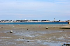 Looking from St Aubin to St Helier (Sybalan,) Tags: jersey channelislands may holiday sunny summer landscape sea shoreline canon httpsybalanphotographyweeblycom stouensbay stbrelade boulaybay staubin