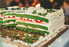 Colorful Spinach Cake With Cream (wuestenigel) Tags: spice cake dessert spinach appetizer table red festive homemade cooked meal white vegetable eating berry brunch party wedding berries healthy delicious blueberries vegan blueberry food green vegetarian diet piece nutrition dish birthday strawberry fresh cream closeup tasty