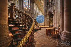 Around Corners [Explored] (Adrian Court LRPS) Tags: architecture art artist aurorahdr2019 cambridgeshire cathedral church churchofengland columns ely hdr handrail historic lukejerram moon museumofthemoon nave octagon pews pulpit religion seats stainedglass steps stonefloor england unitedkingdom