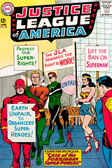 Justice League of America #28 (1964), cover by Mike Sekowsky and Murphy Anderson (gameraboy) Tags: justiceleagueofamerica 28 1964 cover mikesekowsky murphyanderson 1960s vintage comics comicbook comicbookart theflash justiceleague superman wonderwoman greenlantern aquaman art illustration