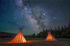 Native Skies (McKendrickPhotography.com) Tags: milkyway nightsky glaciernationalpark blackfoot