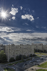 IMGP5766_HDR (Dmitriy'Os'Ivanov) Tags: pentaxk5 hdpentaxda15mmf4limited landscape city wide санктпетербург cityscape sunlight starbursts sun bluesky clouds architecture спальныйрайон hdr 15лим пейзаж лучи