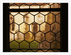 .. kaleidoscope (here_abouts) Tags: window shapes ornament blur bokeh impression architecture texture