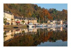 Le port de Dinan Côtes d'Armor (Mirarmor) Tags: port maisons rivière eau automne arbres ciel bretagne france bateaux