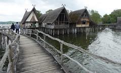 Pfahlbautenhauese (lindamaryfowler) Tags: prehistoric lake houses pfahlbau piles stoneage bronzeage copperage