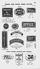 Brass and China Notice Plates. R. Mansell & Son (growlerthecat) Tags: mansell brassware brassfoundry birmingham catalogue tradecatalogue