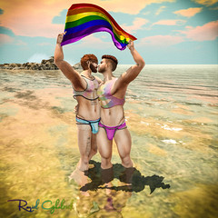 Love Beach (Raziel Ghalrick) Tags: dura motiv8 sl secondlife blog blogger mesh avatar blogging men man guy male pants events online second life skin daniel mode body bodys bodies meshclothes clothes bed play event nature relax enjoy fun shorts shoes nice socks dappa tattoo sun people pose sim flickr grass tree jump sky portrait building painting head catwa pride gay rainbow cubura colors prideevente gift free
