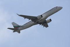LZ-PLO (IndiaEcho) Tags: italy rome roma airport aircraft aviation jet aeroplane civil da vinci aeropuerto airliner airfield fco leaonardo lirf fimucino air bulgaria embraer 195 lzplo