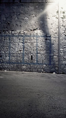 ? (F_T 74) Tags: wall street light luce sicilia sicily chiaramontegulfi night notte square geometry geometria blue muro design disegno rock summer estate 2019 june