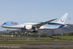G-TUIH Boeing 787-8 TUI Glasgow airport EGPF 11.05-19 (rjonsen) Tags: plane airplane aircraft aviation airliner dreamliner airside runway landing