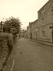 P1430935.    Water Street, Bakewell (dave_attrill) Tags: waterstreet shops street cafes bakewell town centre peakdistrict nationalpark derbyshire historic june 2019 sepia