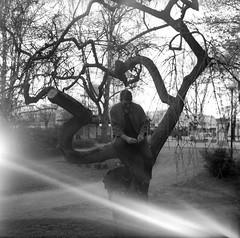 Rasmus. (PeeterTomson) Tags: kiev88 kiev 88 portrait bw blackandwhite tallinn estonia summer volna3 volna 3 ilford delta 400 120film 120 medium format mediumformat hasselblad hasselbladski analog analogue vintage soviet cccp light leak