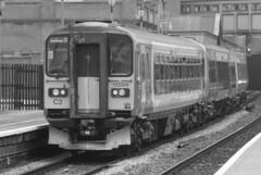 Black & White days at Moor Street (The Walsall Spotter) Tags: birmingham moorstreet railway station westmidlandsrailway class153 sprinter dmu 153354 class170 turbostar 170509 dieselmultipleunit britishrailways networkrail