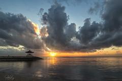 Bali Sunrise (My Pixel Magic) Tags: bali pantaisanur landscape sunrise seascape seabeach waterscape clouds cloudy cloudformation sea water sunglow sunrisecolor nikond500 nikon1635 nikonsingapore travel outdoor slowshutter