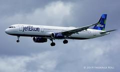JetBlue A321 ~ N973JT (© Freddie) Tags: aruba oranjestad surfsidebeach jetblue airbus a321 n973jt named unforgetableblue aua tnca tncaaua fjroll ©freddie