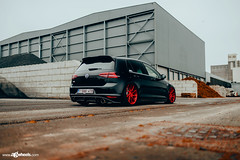 Volkswagen MK7 GTI - M621 - Brushed Candy Red (AvantGardeWheels) Tags: agwheels ag avant garde wheels m621 brushed candy red custom concave monoblock flow form rotary forged bespoke rims stance bagged lowered airlift performance euro belgium germany volkswagen vw vdub gti mk7 golf automotive photography nature outdoor