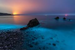 'Electric Beach' - Anglesey (Kristofer Williams) Tags: bioluminescence plankton bioluminescent night beach coast waves sea seascape light nature nightscape landscape rocks phenomenon anglesey wales penmon