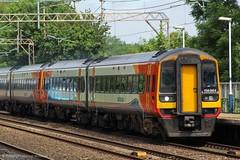 East Midlands Trains 158864 (Mike McNiven) Tags: eastmidlandstrains eastmidlands trains stagecoach nottingham norwich liverpool limestreet manchester levenshulme sprinter expresssprinter dmu diesel multipleunit