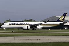 Singapore Airlines A350-900 9V-SMR at Manchester Airport MAN/EGCC (dan89876) Tags: singapore airlines airbus a350 a359 a350900 a350941 xwb 9vsmr manchester international airport landing 23r man egcc