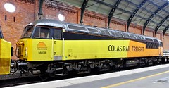 Colas class 56 (steven.barker57) Tags: colas class 56 56078 diesel freight train loco locomotive darlington station railway british railways platform uk england