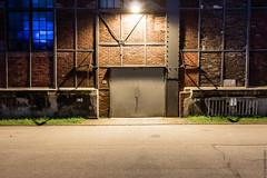Hallentor (Dingens-Kirchen) Tags: tür tor nacht duisburg halle landschaftspark scheinwerfrt