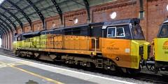 Colas class 70 . (steven.barker57) Tags: colas disel freight loco locomotive darlington 70812 platform station british rail railways
