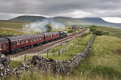 The southbound 'Dalesman', Blea Moor, Settle-Carlisle railway, 25/6/19 (John / Arc-Images) Tags: 48151 dalesman settle carlisle railway steam train blea moor ribblehead