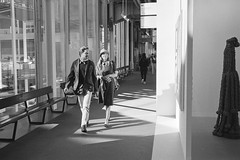 Walking through Art Basel (titan3025) Tags: leica leicam6 m6 ilford hp5 ilfordhp5 film analog art basel 2019 artbasel