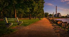 Seaside Park-Bridgeport-CT-USA_06262019-59-Pano (LBSimmsPhotography) Tags: outdoor landscape bridgeport connecticut view background park seasideparkct travel bench path tree ngc