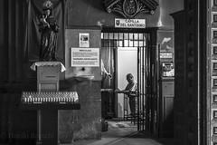 Capilla del Santísimo (danilob1) Tags: madrid spain blackandwhite church city faith figure inside people pray street urban urbanexploration
