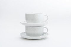 177/365 White on White (belincs) Tags: stilllife indoors june whiteonwhite flash highkey saucers lincolnshire 365 cups 2019 uk oneaday
