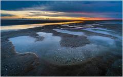 Maasvlakte beach at sunset (Rob Schop) Tags: maasvlakte beach seascape composition foreground zuidholland noordzee tide texture sunset color pola hoyaprofilters wideangle lrcc hdr samyang12mmf20 f11 sonya6000