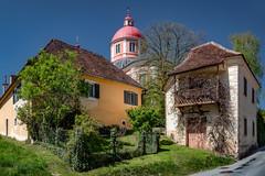Pöllau in Eastern Styria (Bernd Thaller) Tags: pöllaubeihartberg pöllau village houses architecture church sunshine outdoor dome monastery old townscape abbey