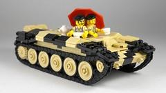 Time for tea (Rebla) Tags: crusader tank wwii ww2 world war ii 2 rebla lego vehicle work progress wip