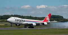 LX-VCF Boeing 747, Prestwick (wwshack) Tags: b747 cargolux egpk glasgowprestwick pik prestwick scotland aircargo airfreight lxvcf