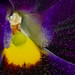 Purple and yellow macro stigma of flower