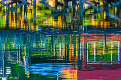 Bluesy on the Bay. (Picture-Perfect Pixels) Tags: colourful water marina blue'sbayoucafereflection brentwoodbaymarina june abstract evening reflections summer wetreflections waterreflections sunset watercolour vancouverisland british columbia