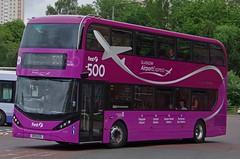 DENNIS Enviro 400D Alexander Enviro 400 City - First Glasgow Airport Express (scotrailm 63A) Tags: buses coaches first glasgow