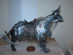 Domuya Nightmare (Alexiaaaaaa) Tags: warhammer scythe death armor armour steed horse nightmare domuya doll jointed ball bjd chaos stallion dark