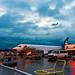 A Horizon Dash 8-400 Overflies A Horizon ERJ-175