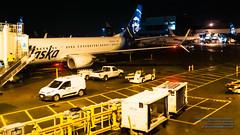 Alaska Airlines 737s at SeaTac Gates in the Night (AvgeekJoe) Tags: 1835mmf18dchsm 737 737800 7378fh 7378fhwl a alaskaair alaskaairlines boeing737 boeing737800 boeing7378fhwl d5300 dslr internationalairport ksea n549as nikon nikond5300 seatac seatacinternational seatacinternationalairport seattle seattletacomainternational seattletacomainternationalairport sigma1835mmf18 sigma1835mmf18dchsmart sigma1835mmf18dchsmartfornikon sigmaartlens washington washingtonstate aircraft airplane airport aviation jetliner night nightphoto nightphotograph nightphotography nightshot plane